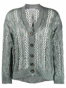 Brunello Cucinelli slouchy open knit cardigan - Grey