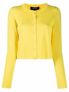 Paule Ka fine knit cropped cardigan - Yellow