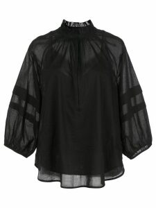 Apiece Apart Laguna sheer blouse - Black