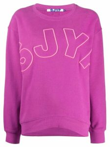 SJYP embroidered logo sweatshirt - PURPLE