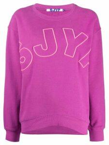 SJYP embroidered logo sweatshirt - PURPLE
