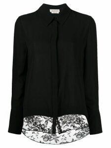 Alexander McQueen contrast panel shirt - Black