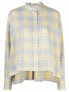 Isabel Marant Étoile checked print blouse - Yellow