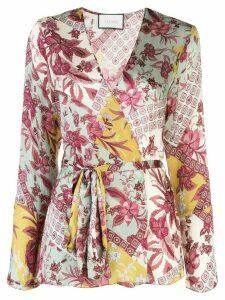 Alexis Kalindi floral wrap blouse - Green