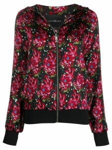 John Richmond floral-print zip-up hoodie - Black