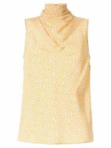 Rebecca Vallance Rosette shell top - Yellow