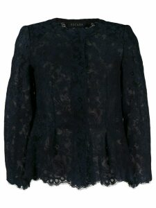 Escada silk floral-lace blouse - Blue