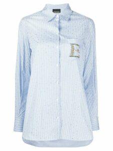 Ermanno Ermanno embellished logo star print shirt - Blue