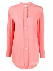 Aspesi collarless design shirt - PINK