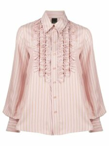 Pinko striped ruffled shirt