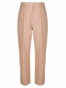 Brunello Cucinelli high-waisted pleat detail trousers - PINK