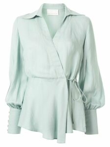 Ginger & Smart Memoir wrap blouse - Blue