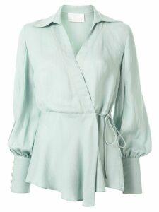 Ginger & Smart Memoir wrap blouse - Blue