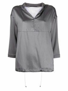 Fabiana Filippi zip detail hoodie - Grey