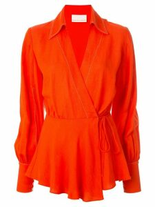 Ginger & Smart Memoir wrap blouse - Red