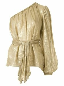 Ginger & Smart Glorious metallized one-sleeve top - GOLD