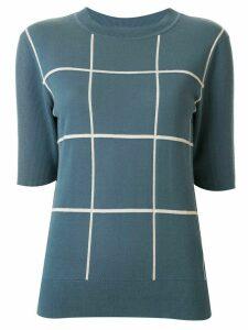Ginger & Smart knitted check T-shirt - Blue
