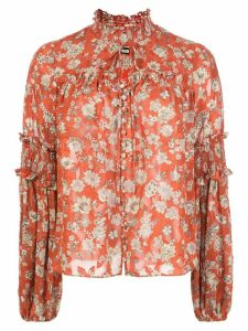 Alexis Zaria floral-print blouse - Red