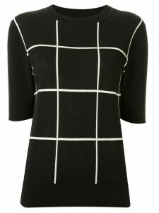 Ginger & Smart knitted check T-shirt - Black