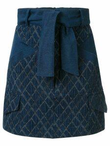 Manning Cartell geometric-pattern denim skirt - Blue