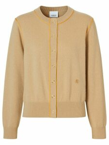 Burberry monogram motif cashmere cardigan - NEUTRALS