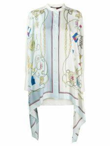 Hilfiger Collection nautical print silk blouse - White