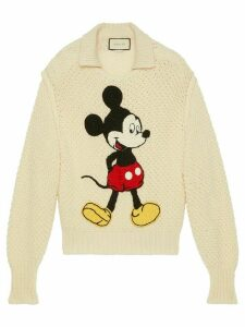 Gucci x Disney embroidered Mickey mouse jumper - NEUTRALS