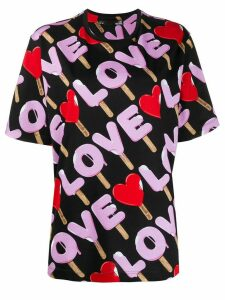Love Moschino Love print T-shirt - Black