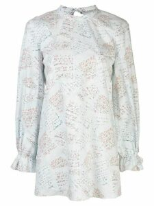 Jonathan Cohen graphic-print cotton blouse - White