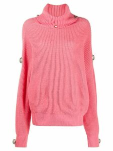 Christopher Kane dome knitted jumper - PINK