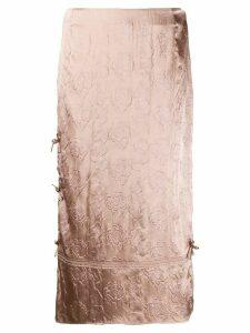 Acne Studios floral jacquard midi skirt - PINK