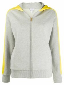 Escada Sport two-tone zipped hoodie - Grey