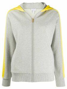 Escada Sport two-tone zipped hoodie - Grey