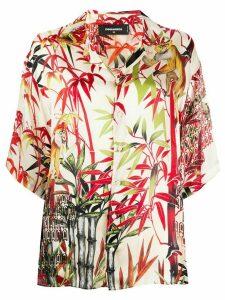 Dsquared2 monkey bamboo-print satin shirt - 001S MIX COLOURS