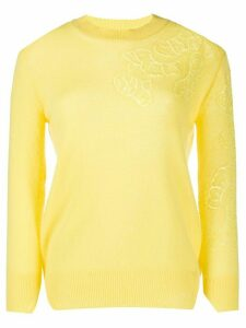 Ermanno Scervino floral cashmere jumper - Yellow