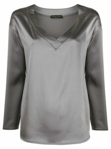 Fabiana Filippi V-neck blouse - Grey