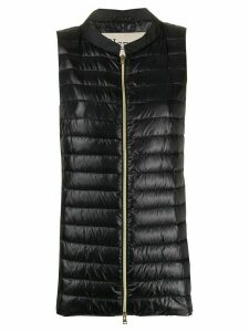 Herno quilted-down A-line gilet - Black