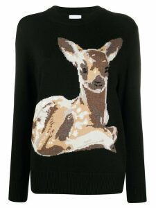 Burberry Deer intarsia sweater - Black