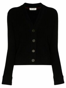 Ply-Knits ribbed knit cardigan - Black