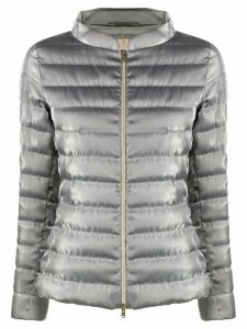 Herno zip-through quilted-down jacket - SILVER