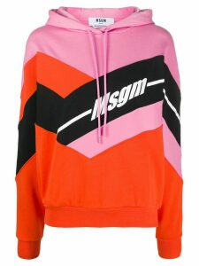 MSGM hooded colour-block sweatshirt - PINK