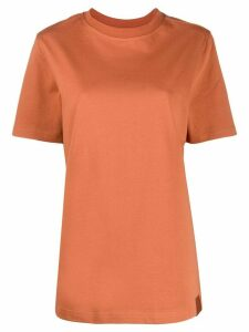 Reebok x Victoria Beckham crew neck logo printed T-shirt - Brown