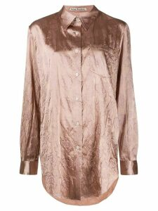 Acne Studios floral embossed shirt - PINK