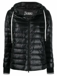 Herno high-shine quilted-down jacket - Black