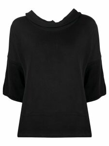 stagni 47 cowl neck knitted top - Black
