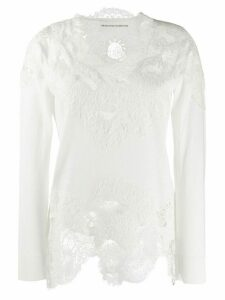 Ermanno Scervino floral lace detailed top - White