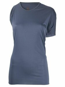 Rick Owens Lilies asymmetric fitted T-shirt - Blue