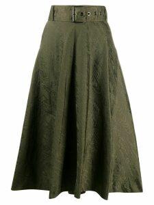 Pinko Felicia flared midi skirt - Green