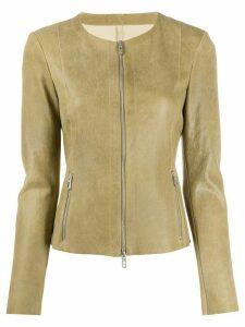 Drome slim-fit zipped jacket - Yellow