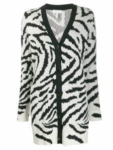 Escada Sport zebra-print knitted cardigan - Black